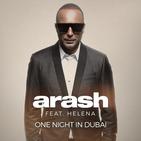 تصویر متن آهنگ یک شب در دبی آرش