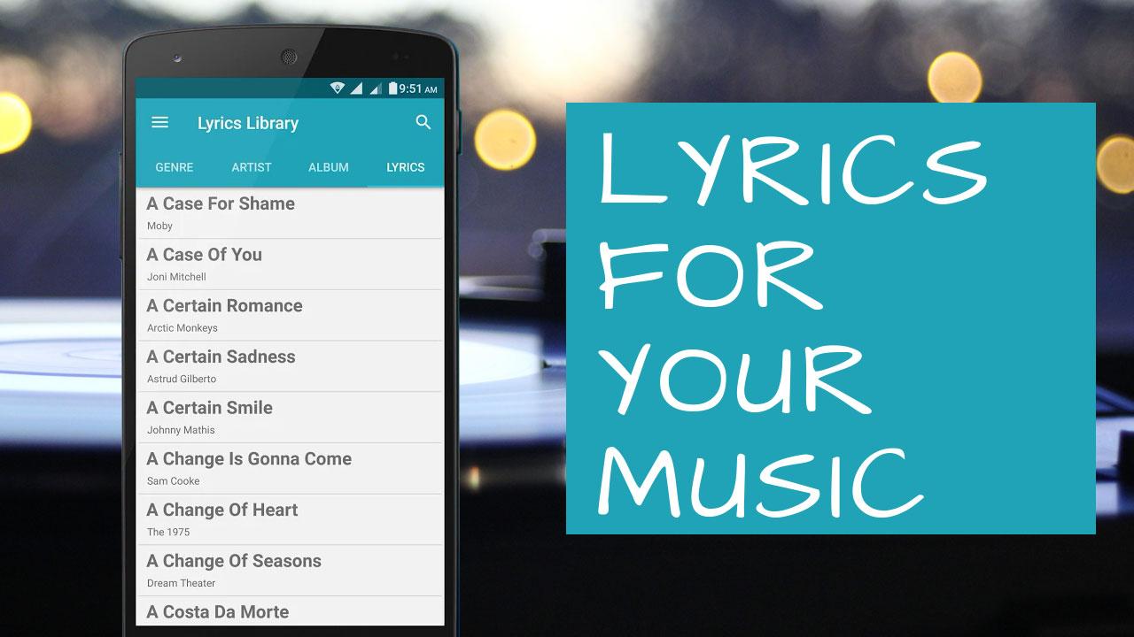 تصویر اضافه کردن متن آهنگ به موزیک پلیر گوشی (به صورت دستی یا برنامه)